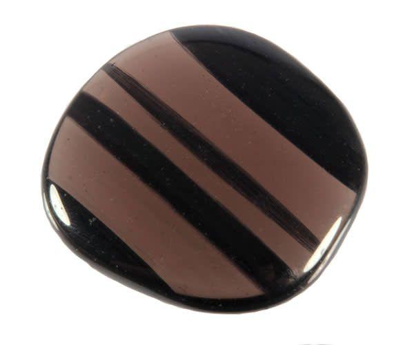 Obsidiaan (lamellen) steen plat gepolijst