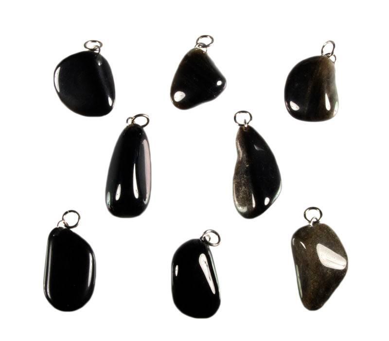 Obsidiaan (goud) hanger