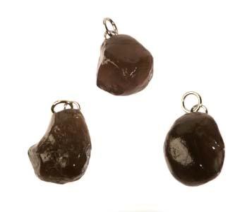 Obsidiaan (apachetranen) hanger ruw