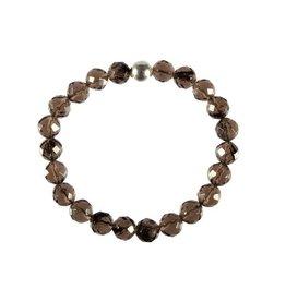 Obsidiaan (apachetranen) armband facet 18 cm | 8 mm kralen