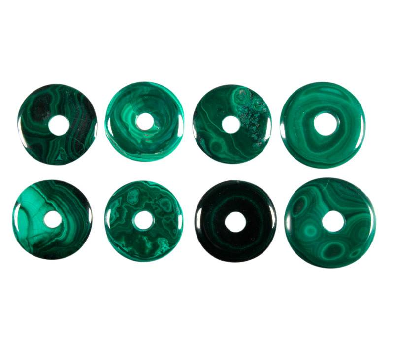 Malachiet hanger donut 2,7 - 3,3 cm