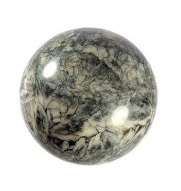 Magnesiet in graniet (pinoliet) edelsteen bol 75 mm