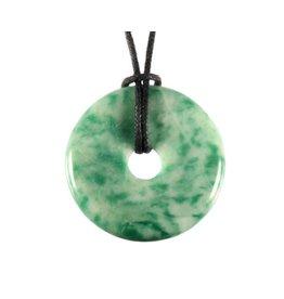 Magnesiet (groen) hanger donut 3 cm