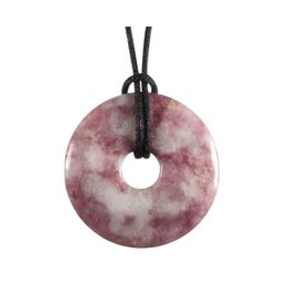 Lepidoliet hanger donut 3 cm