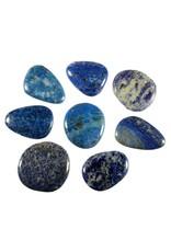 Lapis lazuli steen plat gepolijst