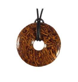 Jaspis (slangen) hanger donut 3 cm