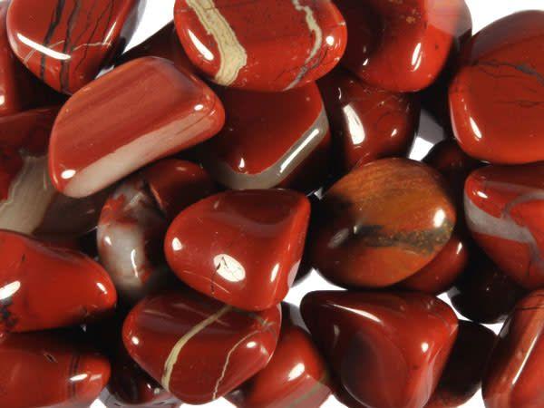 Jaspis (rood) steen getrommeld 5 - 10 gram