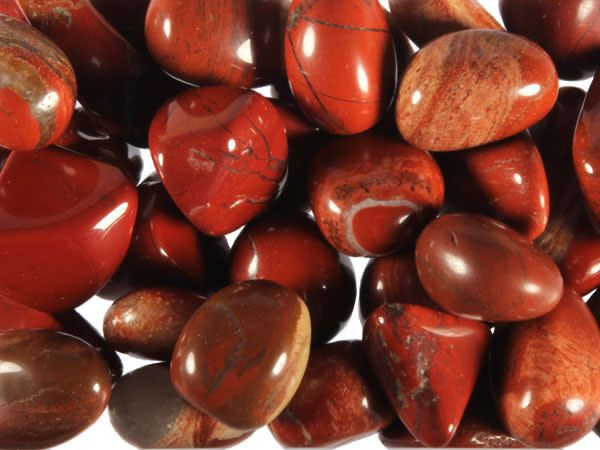 Jaspis (rood) steen getrommeld 2 - 5 gram