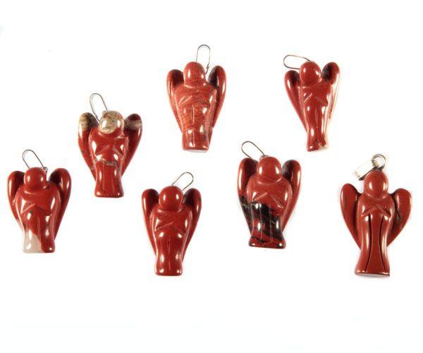 Jaspis (rood) hanger engel