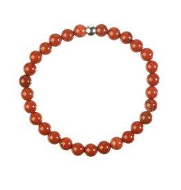 Jaspis (rood) armband 18 cm | 6 mm kralen