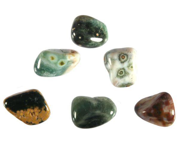 Jaspis (oceaan) steen getrommeld 5 - 10 gram