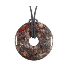 Jaspis (luipaard) hanger donut 3 cm