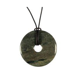 Jaspis (groen) hanger donut 4 cm