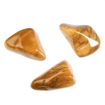 Jaspis (geel) steen getrommeld 2 - 5 gram
