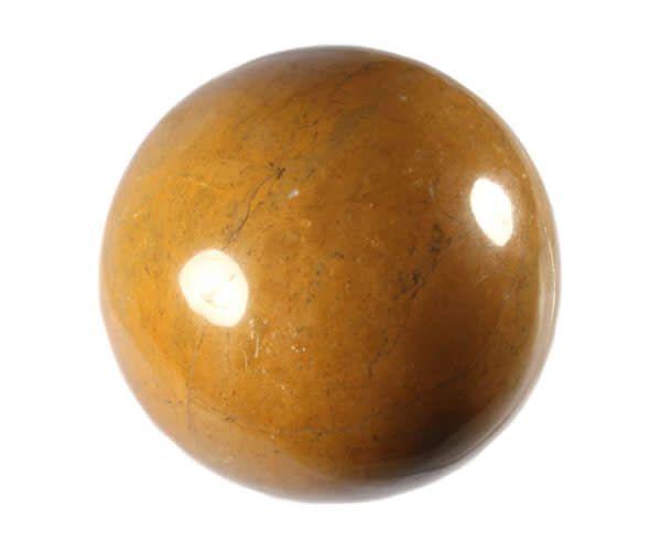 Jaspis (geel) edelsteen bol 89 mm