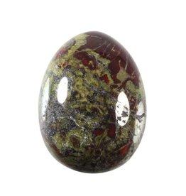 Jaspis (drakenbloed) edelsteen ei 4,5 x 3,5 cm