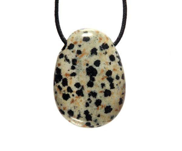 Jaspis (dalmatier) hanger doorboord
