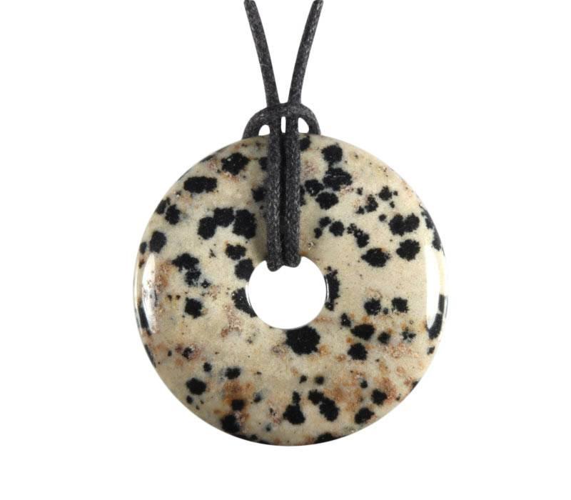 Jaspis (dalmatiër) hanger donut 3 cm