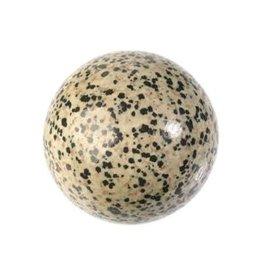 Jaspis (dalmatier) edelsteen bol 62,5 mm