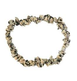Jaspis (dalmatier) armband split