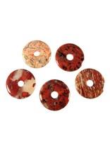 Jaspis (breccie) hanger donut 4 cm