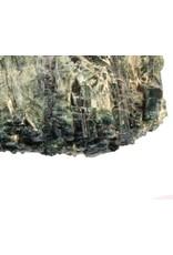 Indigoliet (blauwe toermalijn) in kwarts ruw 9,5 x 6 x 2 cm / 190 gram