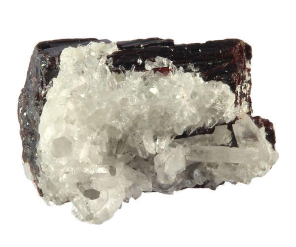 Huebneriet kristal met bergkristal cluster 3,5 x 3 x 2,5 cm / 66,6 gram
