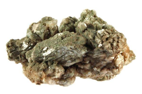 Heulandiet (groen) ruw 10 x 6 x 6 cm / 232 gram