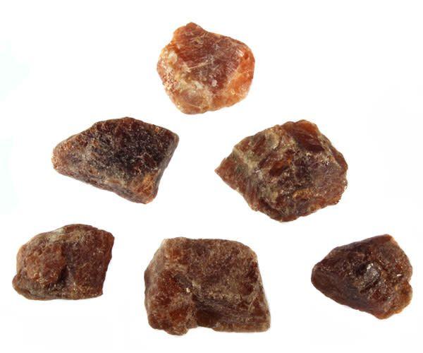 Hessoniet (granaat) ruw 25 - 50 gram