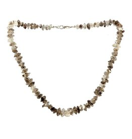 Herkimer diamant ketting met sterling zilveren slotje