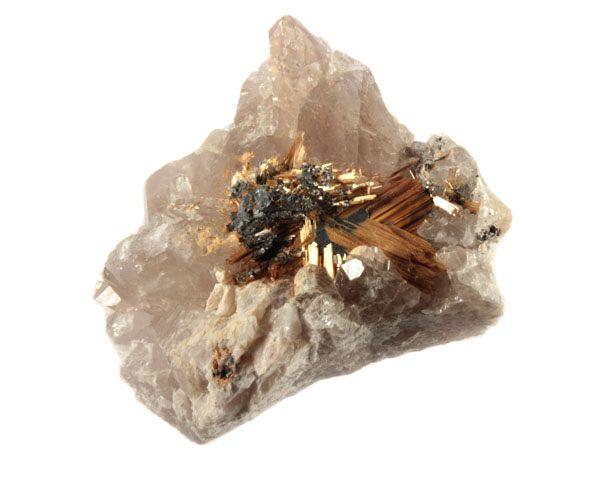 Hematiet met rutiel op kwarts 7,5 x 7,5 x 4,5 cm / 314 gram