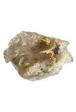 Hematiet met rutiel op kwarts 6,5 x 5 x 4,5 cm / 148 gram
