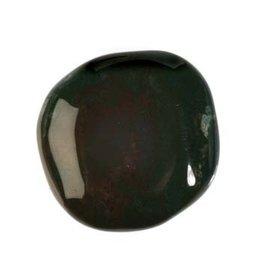 Heliotroop steen plat gepolijst