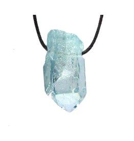 Aqua aura kwarts hanger kristal doorboord