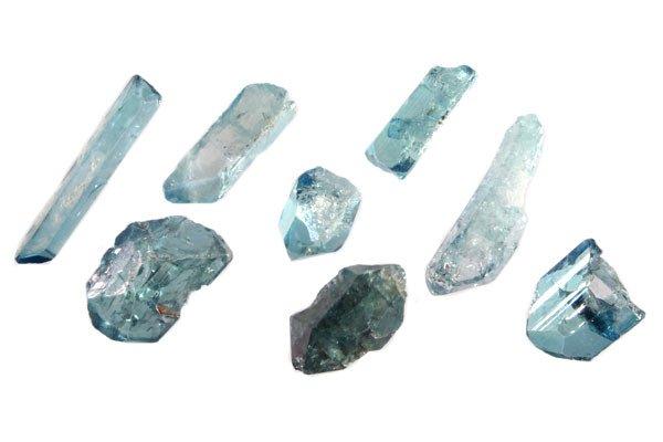 Aqua aura kristal 2 - 5 gram
