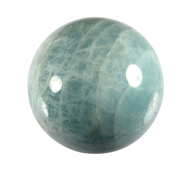 Aquamarijn (blauw) edelsteen bol A-kwaliteit 49,3 mm