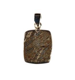 Zilveren hanger meteoriet ruw 2 x 1,8 cm