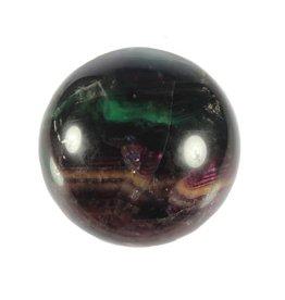 Fluoriet (multi) edelsteen bol 75 mm