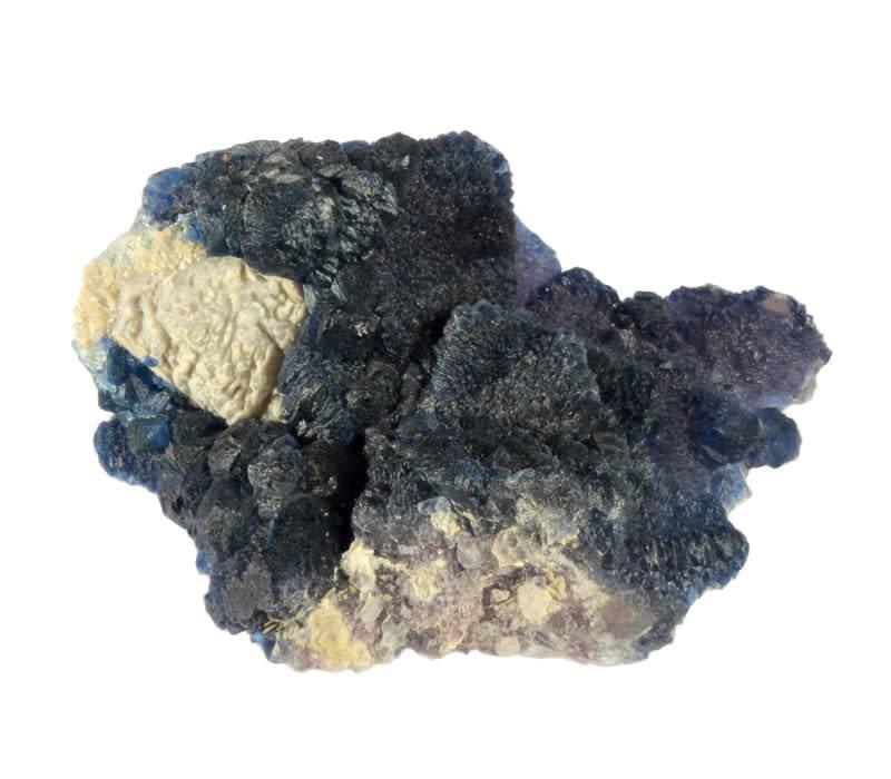 Fluoriet (blauw) cluster 9 x 6,7 x 4,5 cm / 241 gram