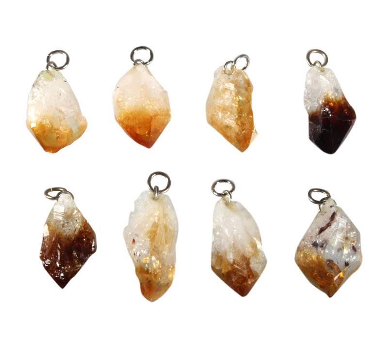 Citrienkwarts (verhit) hanger kristal