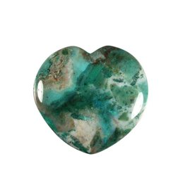 Chrysocolla edelsteen hart 4 cm