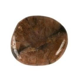 Chiastoliet of kruissteen plat gepolijst