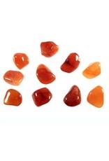 Carneool steen getrommeld 2 - 5 gram