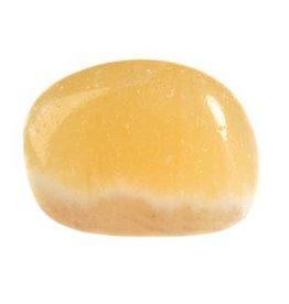 Calciet (oranje) steen getrommeld 5 - 10 gram