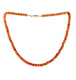 Calciet (oranje) ketting 6 mm kralen