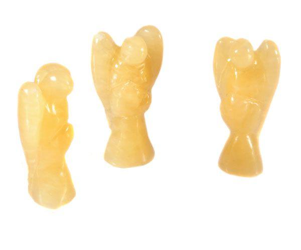Calciet (oranje) engel 3,5 cm