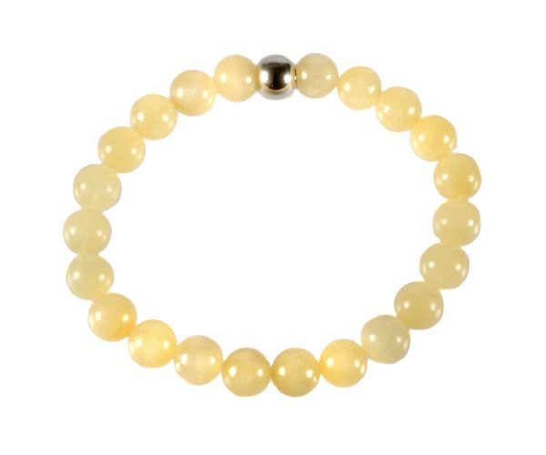 Calciet (geel) armband 18 cm | 8 mm kralen