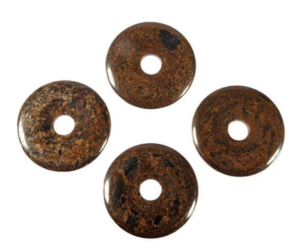 Bronziet hanger donut 4 cm
