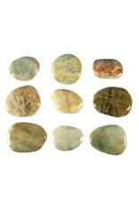 Beryl steen plat gepolijst