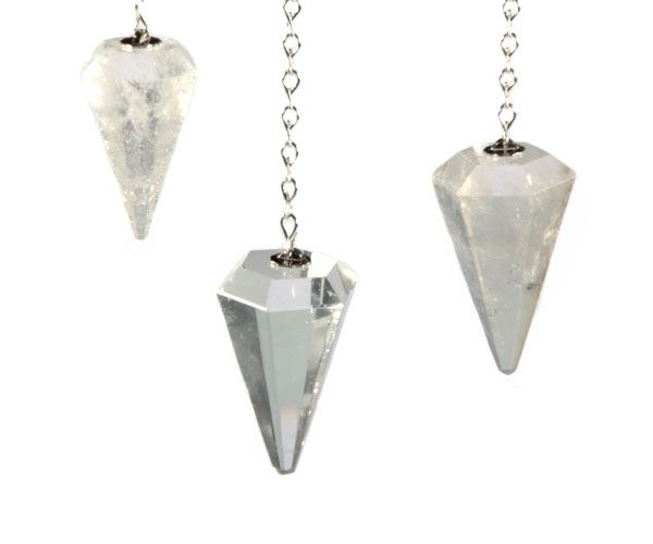 Bergkristal pendel facet